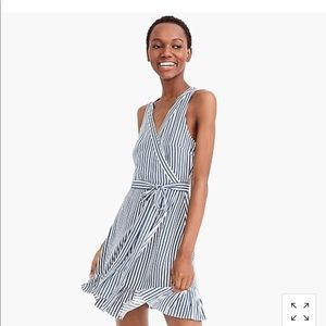 JCrew Striped Wrap Dress